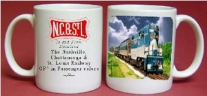 Coffee Mug NC&StL GP7 Passenger