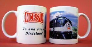 Coffee Mug NC&StL F-unit diesel