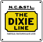 NC&StL Dixie Line Logo 6x6 Tin Sign