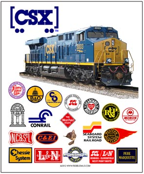 Tin Sign CSX Heritage Railroads