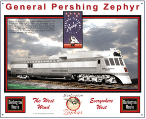 Tin Sign General Pershing Zephyr