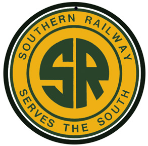 Southern Railway yellow with green logo round