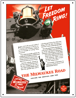 Tin Sign Milw Freedom Ring