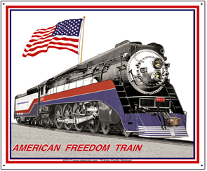 Tin Sign American Freedom Train 2