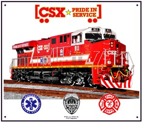 Tin Sign CSX 911 Diesel