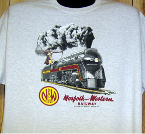 T-Shirt N&W 4-8-4 Streamlined Steam