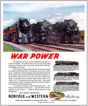 Tin Sign N&W War Power