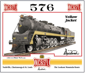 Mouse Pad NC&StL J3 Steam No. 576