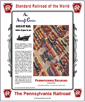 Tin Sign PRR Aircraft Carrier